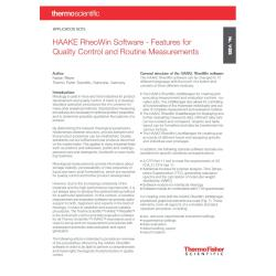 RheoWin Software for Quality Control and Routine Measurements
