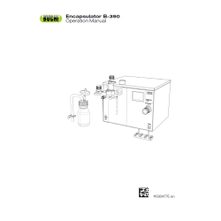 Encapsulator B390 Operation Manual